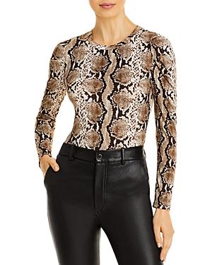 Aqua Snake Print Puff Sleeve Bodysuit - 100% Exclusive
