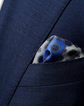 Eton - Four Medallion Silk Pocket Square