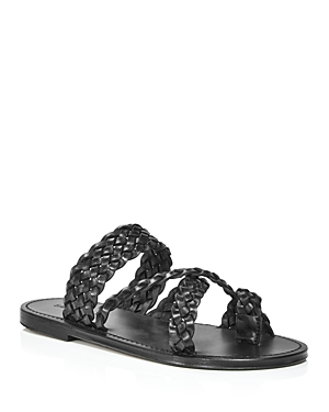 SAINT LAURENT YVES SAINT LAURENT WOMEN'S NEIL SLIP ON BRAIDED SANDALS