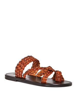 Saint Laurent Leathers YVES SAINT LAURENT WOMEN'S NEIL SLIP ON BRAIDED SANDALS