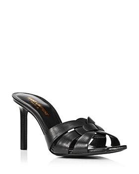 Saint Laurent - Women's 85 Woven Leather High Heel Sandals