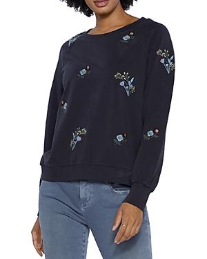 Wild Floral Embroidered Sweatshirt