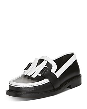 Moschino - Women's Logo Hardware Leather Loafers
