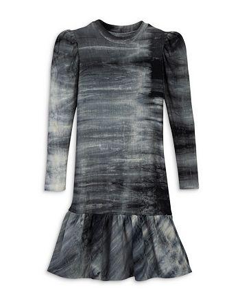 AQUA - Girls' Puff Sleeve French Terry Flounce Dress, Big Kid - 100% Exclusive