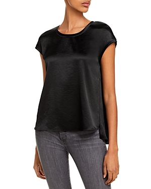 Image of 05JT15 Hayes Cap Sleeve Satin Top