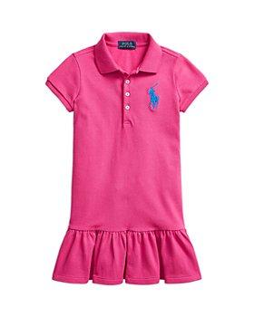 Ralph Lauren - Girls' Mesh Ruffle Polo Dress - Little Kid