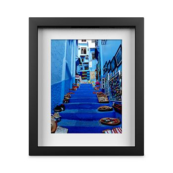 """Whom Home - Blue Stairway Wall Art, 10"""" x 12"""""""