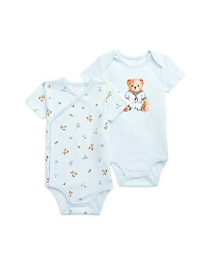 Ralph Lauren POLO POLO RALPH LAUREN BOYS' 2 PC BODYSUITS SET - BABY