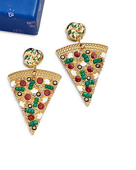 BAUBLEBAR - Cheese the Day Pizza Earrings