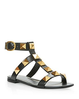 Valentino Garavani - Women's Square Toe Pyramid Studded Buckled Sandals