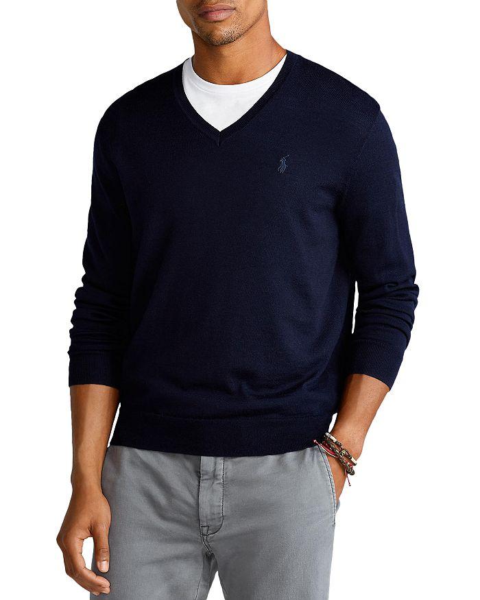 Polo Ralph Lauren - Washable Merino Wool V-Neck Sweater