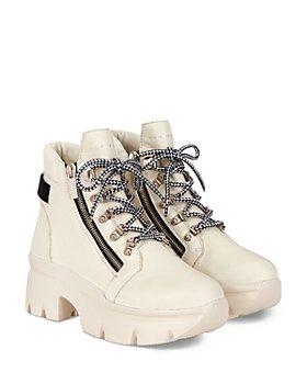 Giuseppe Zanotti - Women's Apocalypse 20 Lug Sole Double Zip Platform Hiking Boots