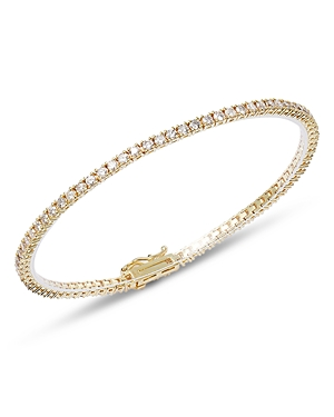 Meira T 14K Yellow Gold Diamond Tennis Bangle Bracelet-Jewelry & Accessories