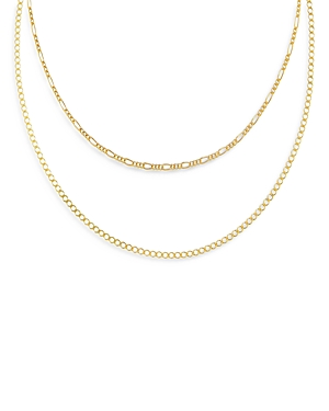 Adinas Jewels DOUBLE CHAIN NECKLACE, 15 AND 17