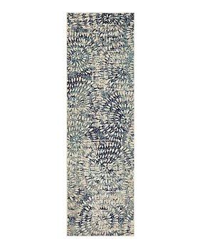 "Karastan - Expressions Imprinted Blooms by Scott Living Runner Area Rug, 2'4"" x 7'10"""