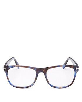 Tom Ford - Men's Square Blue Light Glasses, 54m