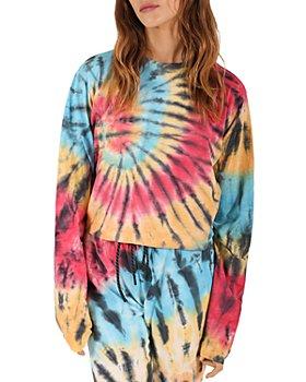 PAM & GELA - Tie Dye Cropped Sweatshirt