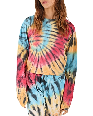 Pam & Gela Tie Dye Cropped Sweatshirt