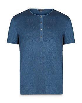 John Varvatos Collection - Slim Fit Linen Henley