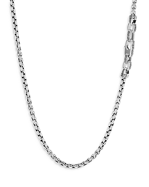 John Hardy Sterling Silver Classic Box Chain Necklace, 26