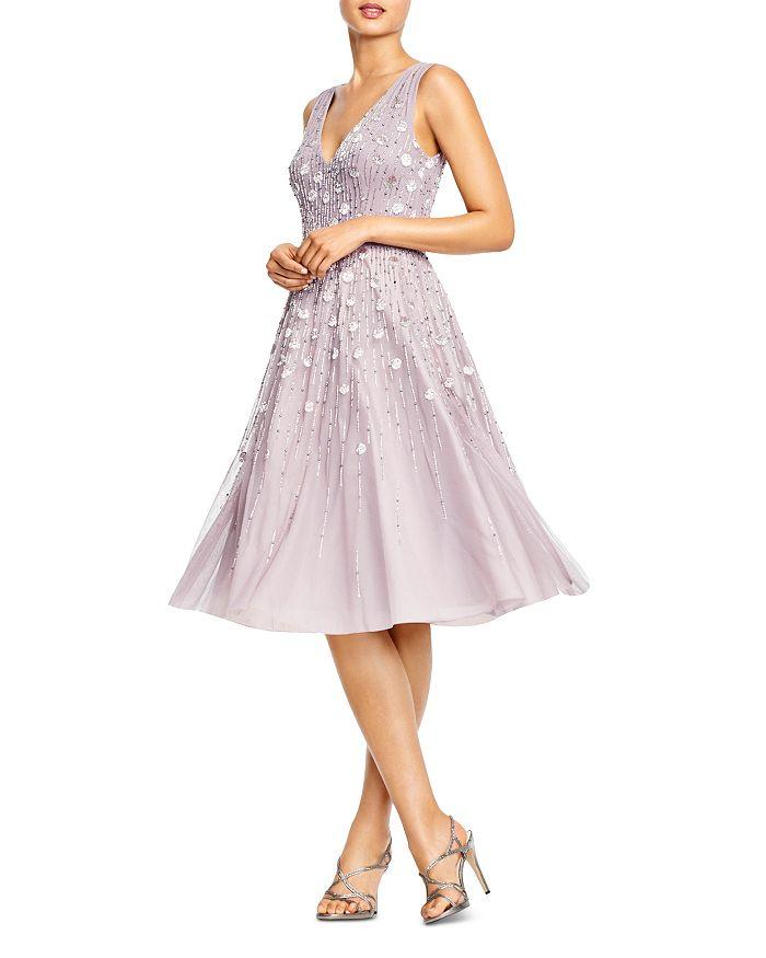 Aidan Mattox - Embellished V-Neck Cocktail Dress