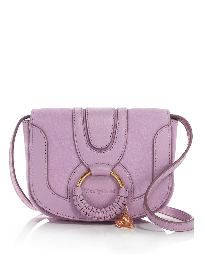 See By Chloé SEE BY CHLOE HANA MINI SUEDE & LEATHER CROSSBODY