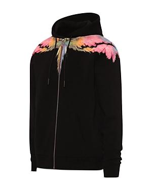 Wings Zip Front Hooded Sweatshirt