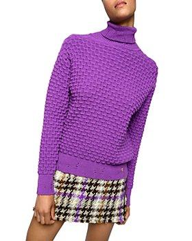 PINKO - Lava Hopsack Mini Skirt