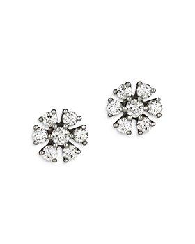 Bloomingdale's - Diamond Flower Stud Earrings in 14K White Gold, 0.25-1.0 ct. t.w. - 100% Exclusive