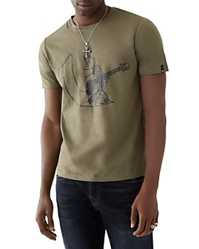 True Religion - Cotton Half Buddha Half Horseshoe Logo Graphic Tee