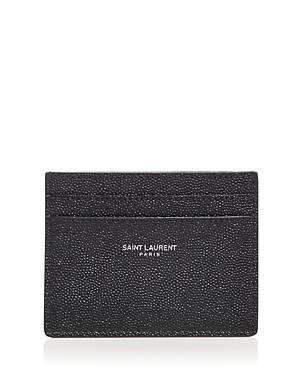 Grain de Poudre Leather Card Case