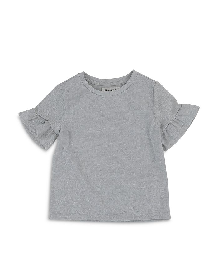 Sovereign Code Girls' Grace Shimmer Ruffle Sleeve Tee - Little Kid, Big Kid In Silver