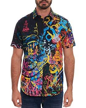 Robert Graham - Mindscape Dark Classic Fit Short Sleeve Shirt