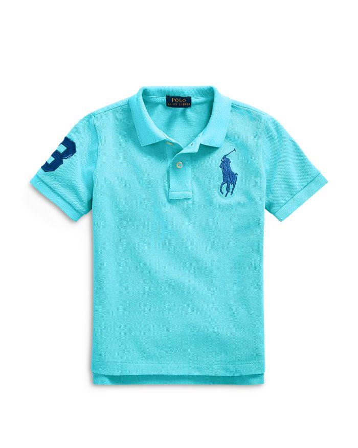 Ralph Lauren Boys' Big Pony Cotton Mesh Polo - Little Kid, Big Kid  | Bloomingdale's
