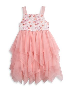 Pippa & Julie - Girls' Floral Embroidered Fairy Dress - Big Kid