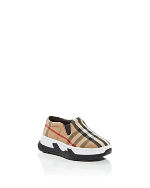 BURBERRY UNISEX BRETY VINTAGE CHECK LOW TOP SNEAKERS - WALKER, TODDLER
