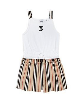 Burberry - Girls' Rhonda Icon Stripe Romper - Little Kid, Big Kid