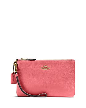 COACH - Polished Pebble Leather Small Wristlet
