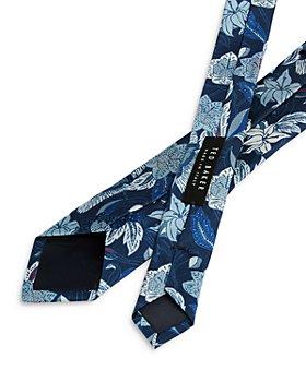 Ted Baker - Floral Crane Print Silk Skinny Tie