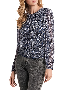 1.state PUFF SLEEVE FLORAL PRINT BLOUSE