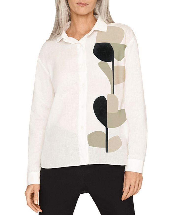 b new york - Organic Geo Button Front Top