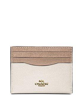 COACH - Color-Block Crossgrain Leather Card Case