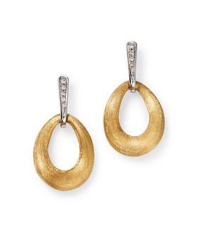 Marco Bicego - 18K Yellow Gold Lucia Diamond Hoop Earrings