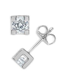 Bloomingdale's - Diamond Stud Earrings in 14K White Gold, 0.5 ct. t.w. - 100% Exclusive