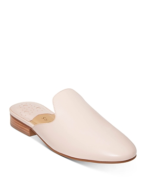 Women's Delaney Almond Toe Leather Slide Mules
