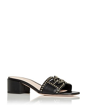Bally - Women's Peoni Studded Block Heel Slide Sandals