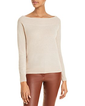 C by Bloomingdale's - Boat Neck Cashmere Sweater - 100% Exclusive