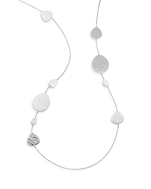 Ippolita STERLING SILVER CLASSICO CRINGLE HAMMERED DISC STATEMENT NECKLACE, 40