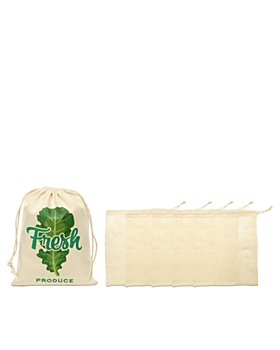 Kikkerland - Cotton Mesh Produce Bags, Set of 5