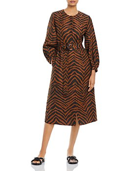 Lafayette 148 New York - Louisa Animal Stripe Silk Blend Dress